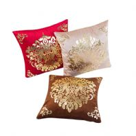 Gold Velvet Square Cushion Cover